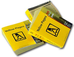 Yellow pages books