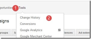 How To Fiind Change History In Your Adwords Account