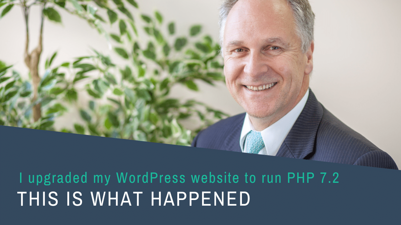 Picture of Hendrik Vos and words I upgraded my wordpress website to run on PHP7.2 and this is what happened